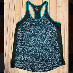 Nike Dri-fit womens tank top activewear green Sz L